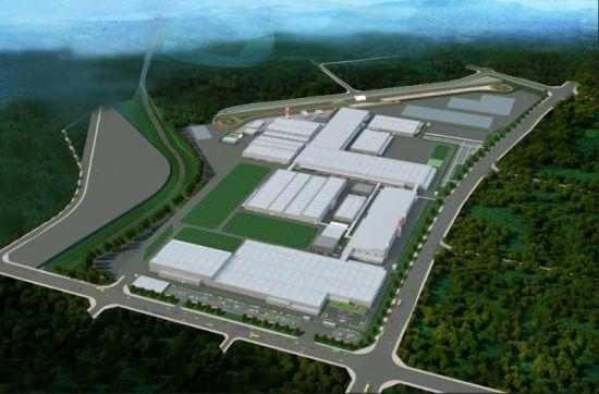 长城皮卡将继续优化保定工厂,加快重庆新工厂的建设,形成纵贯南北的生产布局体系,图为长城重庆工厂效果图。