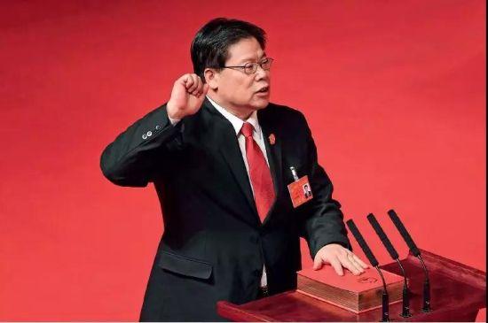 在调任北京大学党委书记之前,邱水平任山西高院院长一年零九个月。图/中新