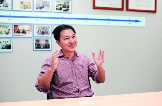 2018年年底,因基因编辑婴儿事件,贺建奎成了焦点人物。图/视觉中国
