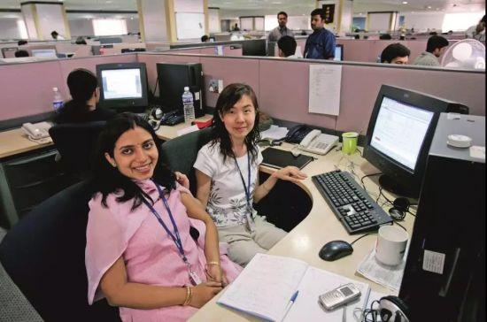 华为印度研究所的办公区。图/视觉中国