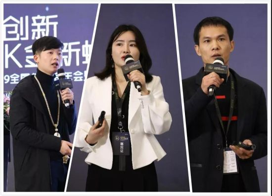从左到右依次为经销商代表刘荡、乔园园、魏志良