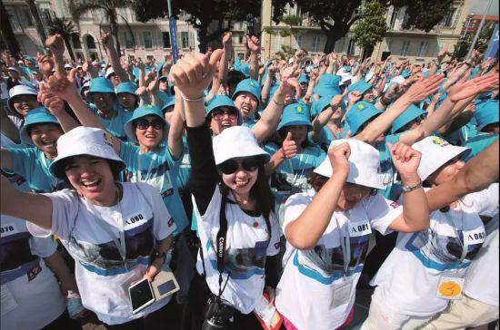 2015年5月8日,中国天狮集团在法国尼斯海滨举行走出国门20周年庆典。